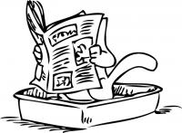 Саймон с газеткой
