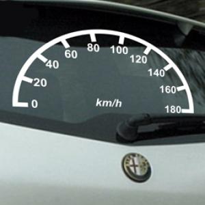 Спидометр - наклейка на авто