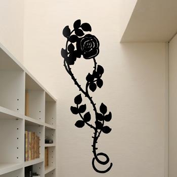 Декоративный узор - роза с шипами