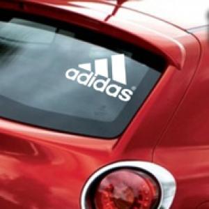Эмблема Adidas - наклейка на авто