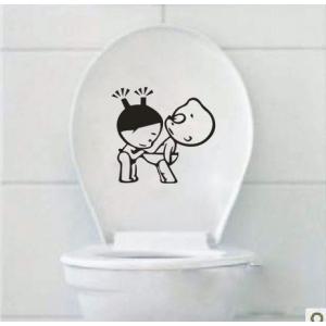 наклейка на туалет - Что это там?!