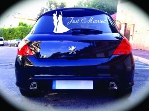 Молодоженам - Just Married 2- наклейка на авто