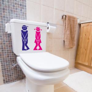 наклейка на туалет Boy&Girl