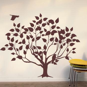 Декоративный узор - дерево с птицами