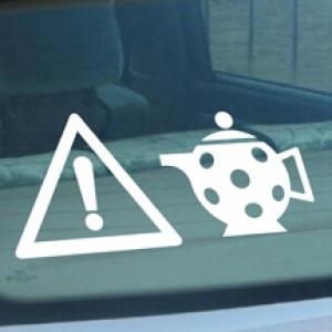 Чайник - наклейка на авто