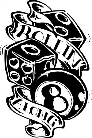 Rollin` along, наклейка