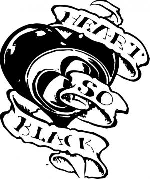 Черное сердце, наклейка