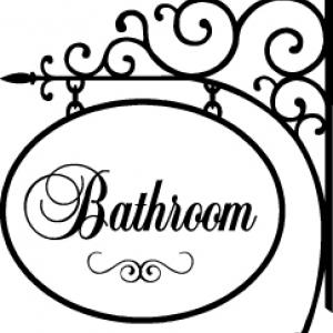 наклейка в ванную Bathroom