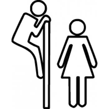 вывеска на wc - подглядывающий