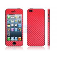 Наклейка на IPhone красный карбон 3D.