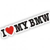 Наклейка I love my BMW