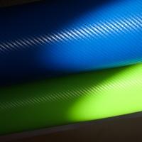 пленка под карбон; зеленый 3D
