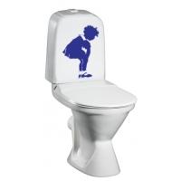 наклейка на туалет - Девочка