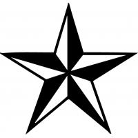 Звезда, наклейка