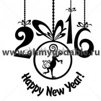 Акробатка - Наклейка Новый Год 2016