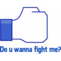 Do you wanna fight me?!, Facebook наклейка