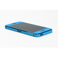 Наклейка на IPhone голубой карбон 3D.