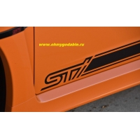 Полосы STI на 2 борта; наклейка
