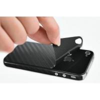 Наклейка на IPhone черный карбон 3D.