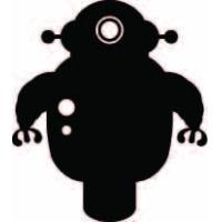 Мото робот, наклейка