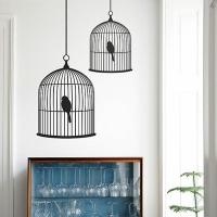 Птицы в клетке, наклейка