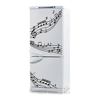 наклейка на холодильник - Музыка