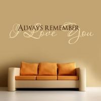 Всегда помни - я люблю тебя, наклейка