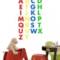 Английский алфавит - наклейки