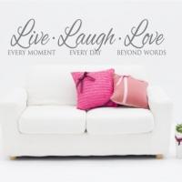 Живи, смейся, люби - наклейка