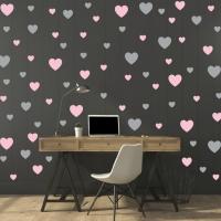 Сердечки - наклейки стики на стену