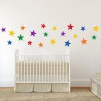 Цветные звезды - наклейки стики на стену