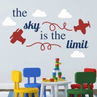 The sky is the limit - наклейка