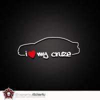 Наклейка I love my Cruze