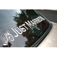 Just Married - наклейка на авто свадебная