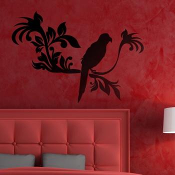 Декоративный узор - пиратский попугай