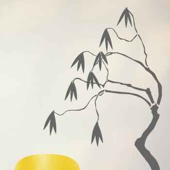 Декоративный узор - ветка с сережками