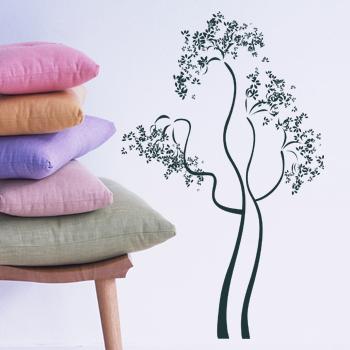 Декоративный узор - лиственное дерево