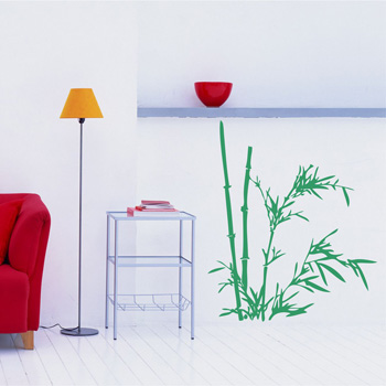 Декоративный узор - молодой бамбук