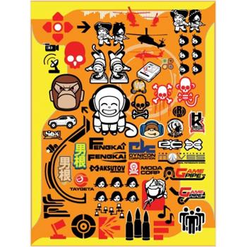 Cтикербомбинг - Stickerbombing set Asia
