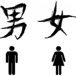 наклейка на туалет - Иероглифы