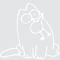 Кот Саймон и птичка