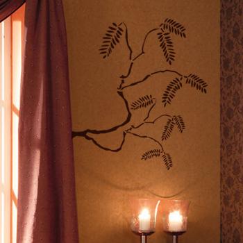 Декоративный узор - ветка рябины