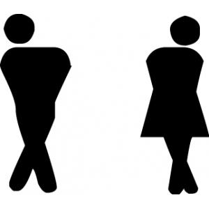 наклейка на туалет - Пропустите