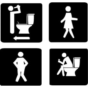 наклейка на туалет - как бывает