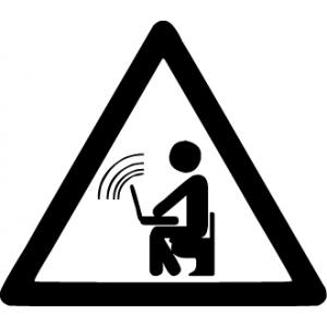 наклейка знак в туалет - Wi-Fi ZONE