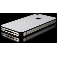 Наклейка на IPhone серебро карбон 3D.