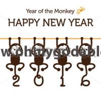 Волшебные хвостики - Наклейка на Новый Год 2016