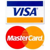 VISA MASTER CARD - наклейка