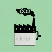 Углекислый газ - наклейка на розетку, включатель, выключатель