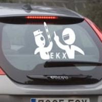 ЕКХ - наклейка на авто